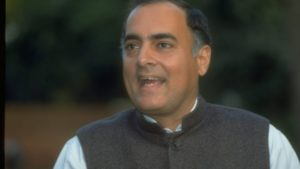 What does late Indian Prime Minister Rajiv Gandhi's chart say?