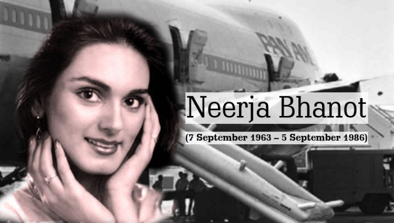 What does the chart of brave flight purser Neerja Bhanot tell ?